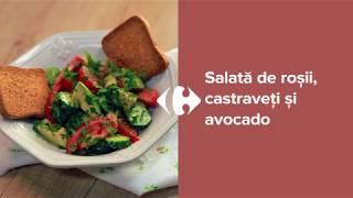 Salata de rosii, castraveti si avocado