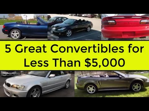Top 5 Reliable Convertibles under $5,000