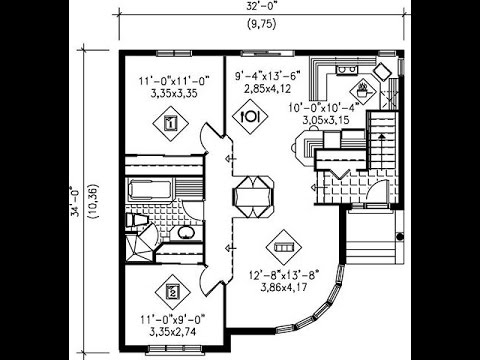 Planos de casas de 120m2 con medidas youtube for Planos arquitectonicos de casas