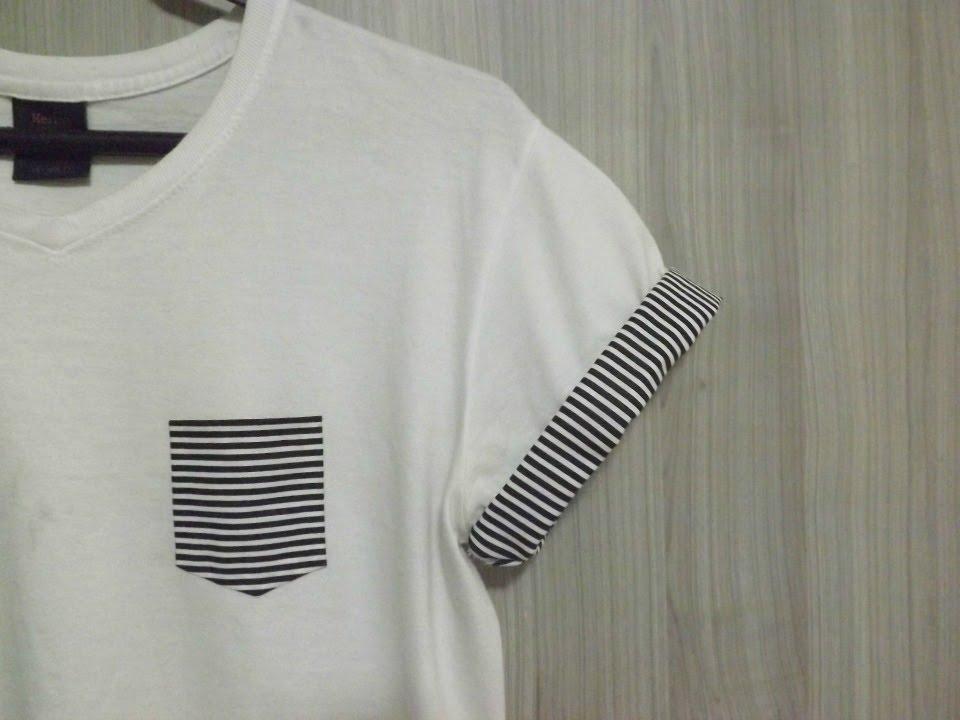 DIY: Como fazer bolso de camisa / Pocket Tee (sem costura ...