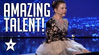 connectYoutube - Girl With No Arms Sings & Plays Piano With Her Feet | Romania's Got Talent | Got Talent Global