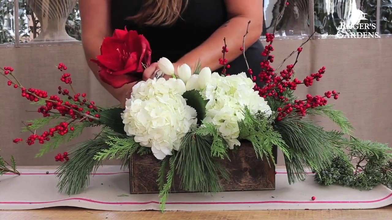 Christmas Floral Arranging With Alison Whiteman Youtube
