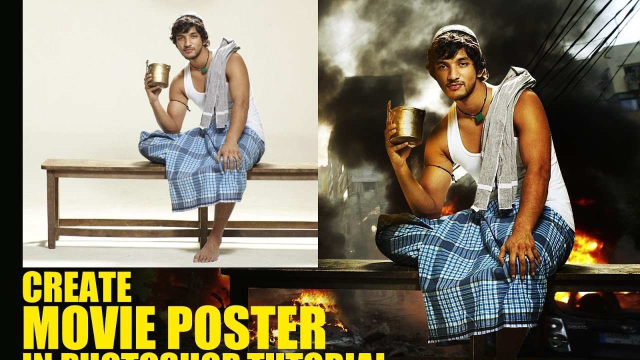 Poster design using photoshop cs5 - How To Create Movie Poster Design In Photoshop Part 27