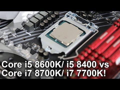Core i7 8700K/ i5 8600K/ i5 8400 Gaming Benchmarks vs Core i7 7700K