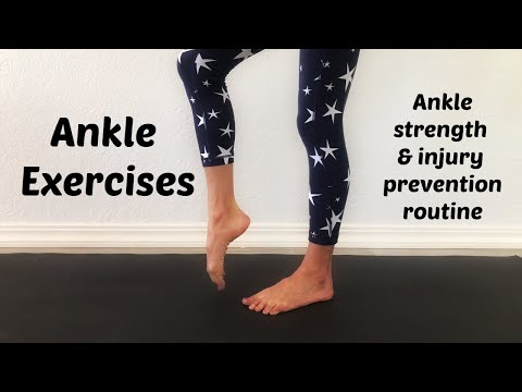 Ankle Exercises For Injury Recovery And Prevention. Full Ankle Strengthening Exercise Routine.
