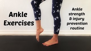 Ankle Exercises for Injury Recovery and Prevention. Full Ankle Strengthening Exercise Routine. Video