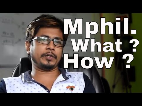 What is MPhil and How to do MPhil in India ?
