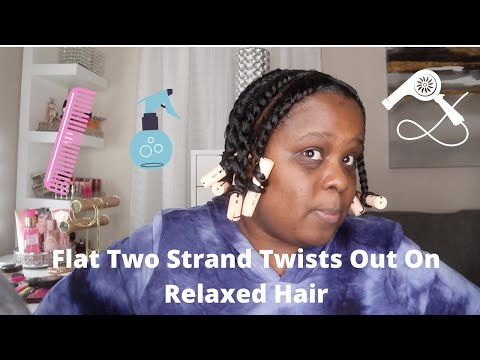 flat-two-strand-twist-out-on-relaxed-hair- theportertwinz