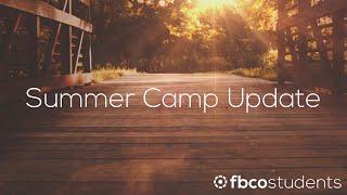 Summer Camp Update 2020