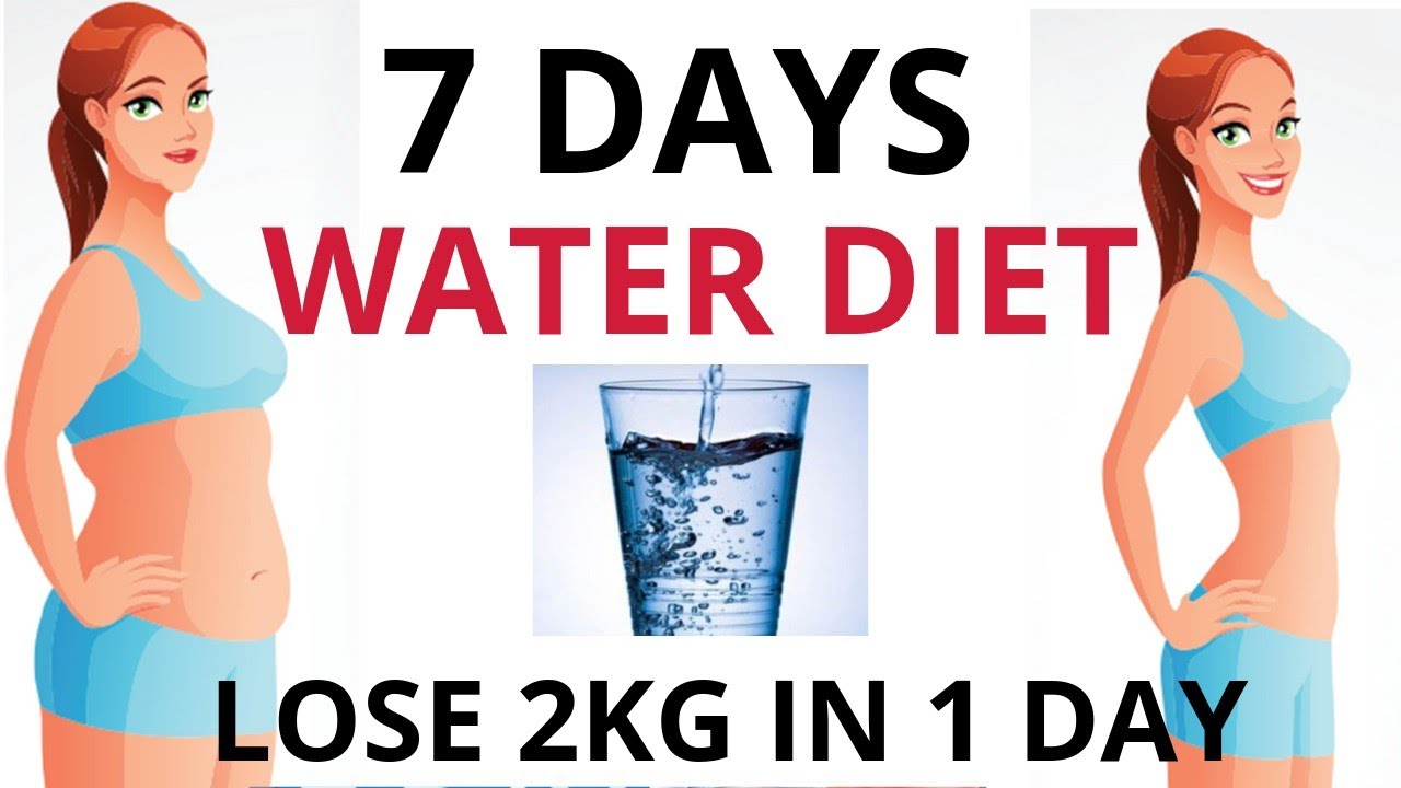 lose weight with water diet