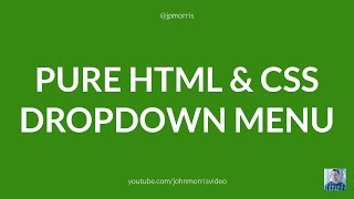 Pure HTML & CSS Dropdown Menu