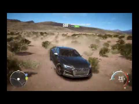 Черная ауди катается по пустыне | Мультики про машинки, играю на пк в гонки.