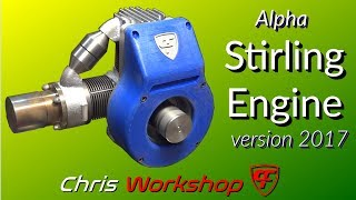 Stirling engine Alpha version 2017