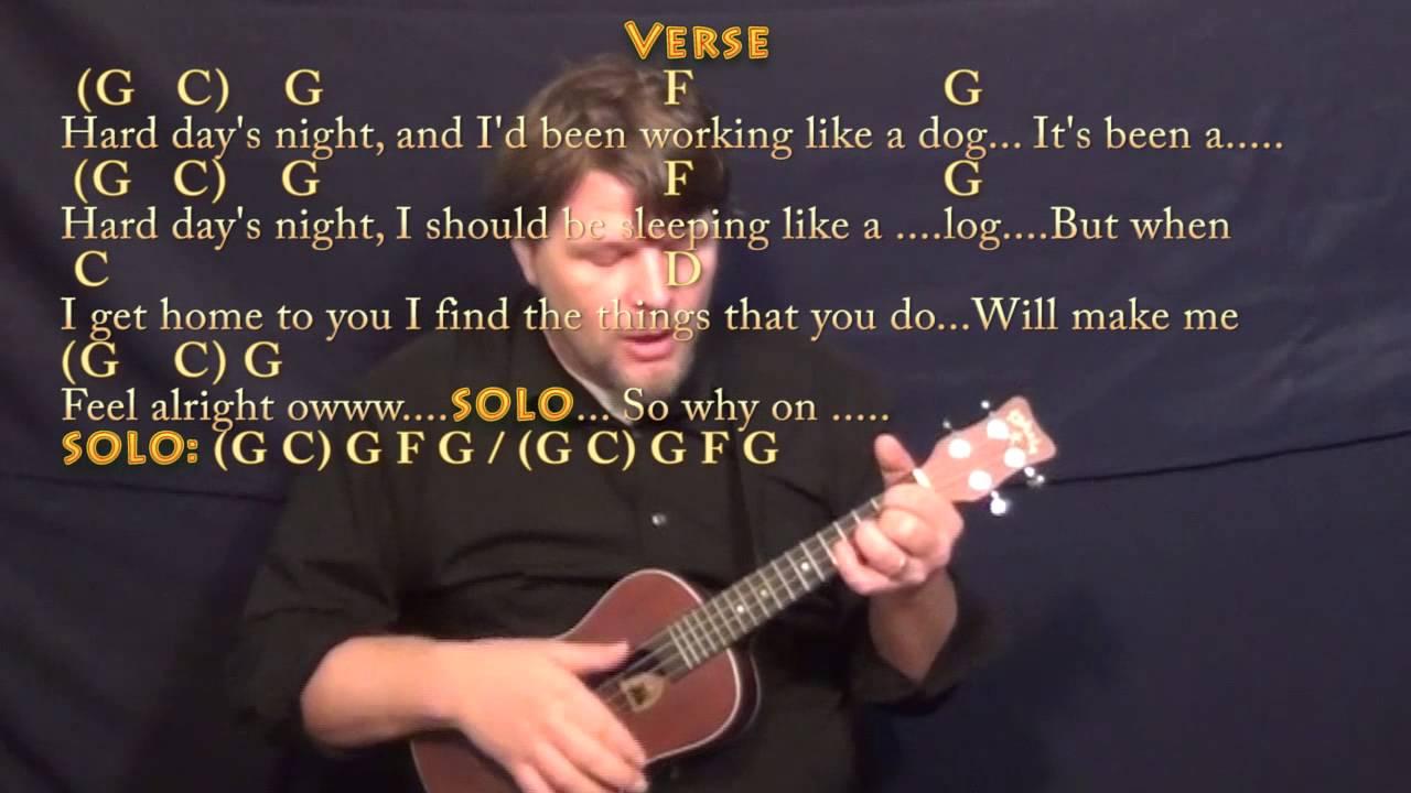 Hard days night beatles ukulele cover lesson with chordslyrics hard days night beatles ukulele cover lesson with chordslyrics hexwebz Gallery