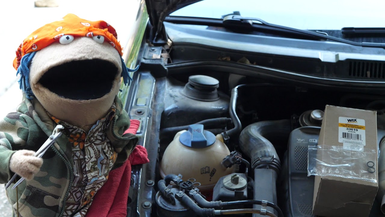 Changing The Fuel Filter On A Mk4 Volkswagen Jetta Youtube