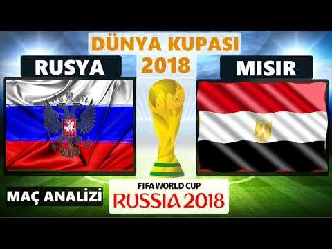 RUSYA - MISIR MAÇ ÖZETİ ÖNCESİ KİM KAZANIR ANALİZİ -  19 HAZİRAN SALI DÜNYA KUPASI 2018