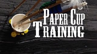 Instinctive Archery: Paper cup Training