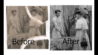 wow old photo retouch / restoration photoshop before and after #oldphoto#beforeandafter#restoration