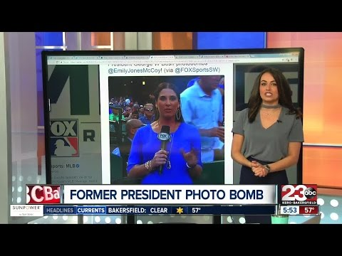 President George W. Bush Photobombs