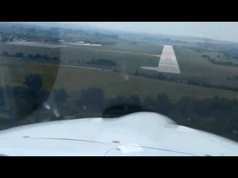 Landing to Gorna Oryahovitza Airport after a terrible weather, LBGO, Bulgaria
