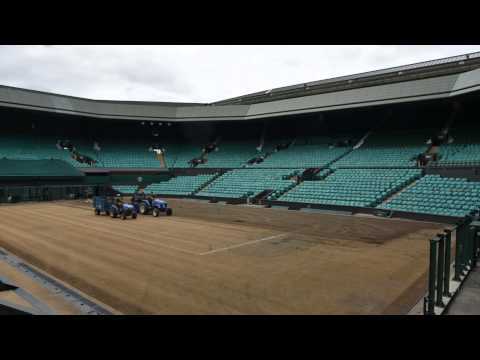 Stripping the grass off Centre Court