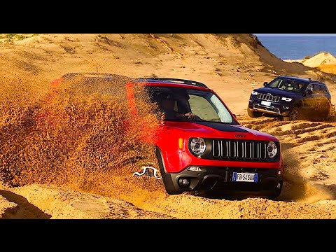 NEW JEEP RENEGADE AND CHEROKEE NIGHT EAGLE 2016 - OFF ROAD TEST JEEP EXPERIENCE DAYS ETNA - ENG SUB