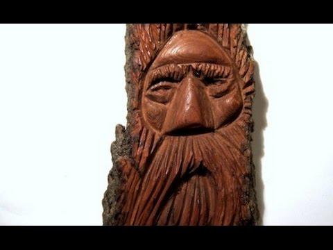 Cottonwood Bark Wood Spirit Carving (full Carving)