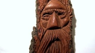 Cottonwood Bark Wood Spirit Carving (full Carving)