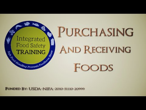 (Part 7): Purchasing and Receiving Foods