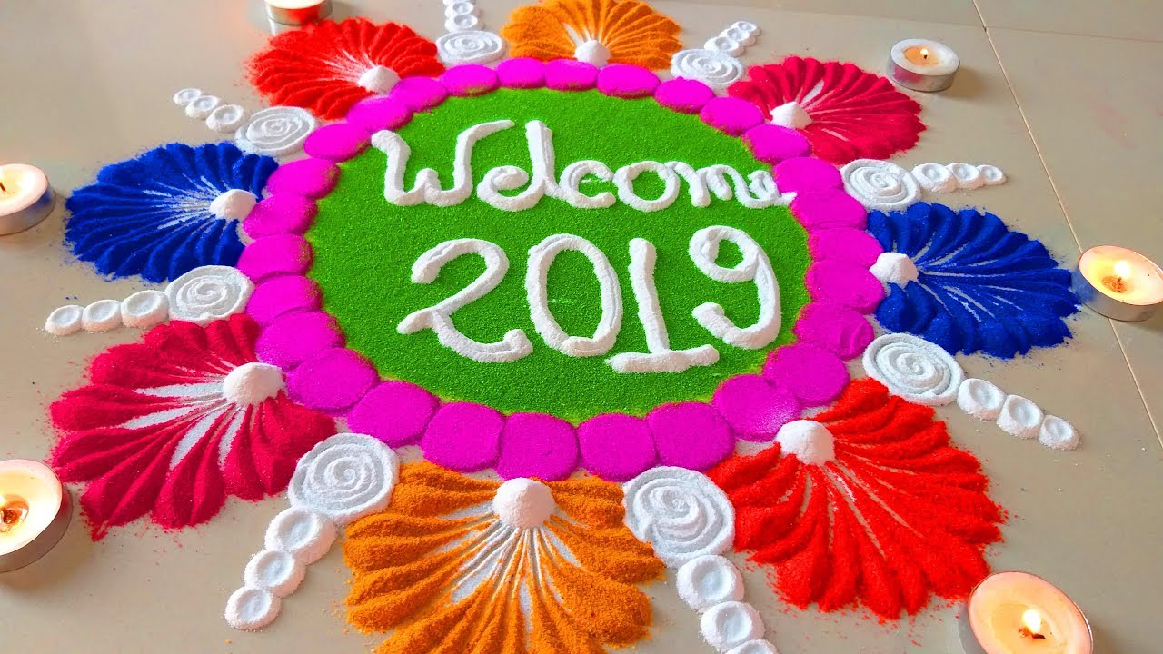 Happy New Year Best Rangoli 20