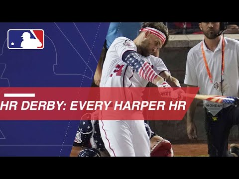 Bryce Harper belts 45 HRs en route to 2018 Derby win