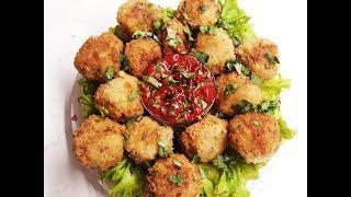 Картофельные шарики с тофу и грибами. Постное новогоднее меню. Веган - рецепт.