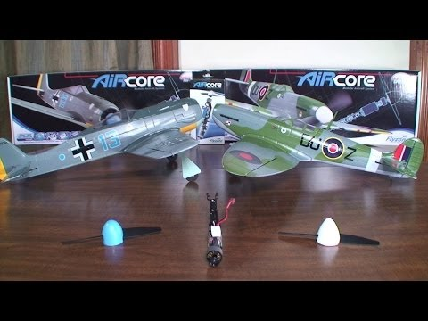 Flyzone - AirCore FW190 and Spitfire - Detailed Look