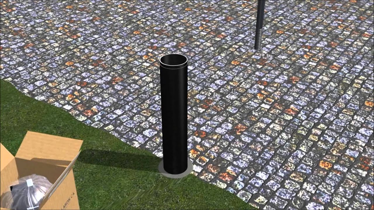 Installing Solar Light Bollards With Concrete Forms And