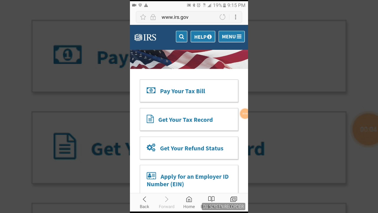 How to Get your Return and Account Transcript on IRS Website