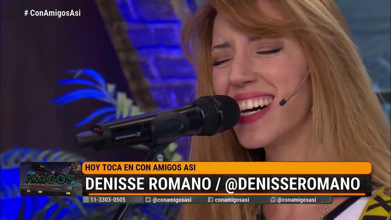 Denisse Romano en Con Amigos Asi 2020