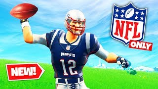*NFL* THROWING ONLY Challenge in Fortnite Battle Royale
