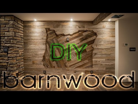 DIY Barnwood Wall Installation - With Some OREGON Love