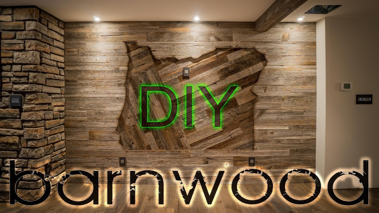 Diy Barnwood Wall Installation With Some Oregon Love