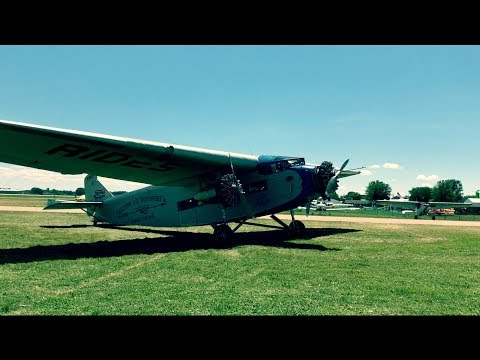 Ford Trimotor flight over EAA Airventure Oshkosh 2017