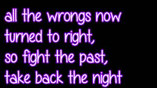 """Take Back The Night"" by TryHardNinja (lyrics on screen)"
