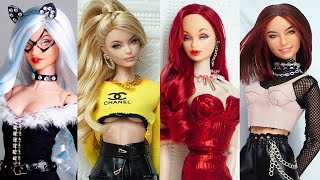 Barbie Doll Makeover Transformation  DIY Miniature Ideas for Barbie  Wig, Dress, Faceup, and More!