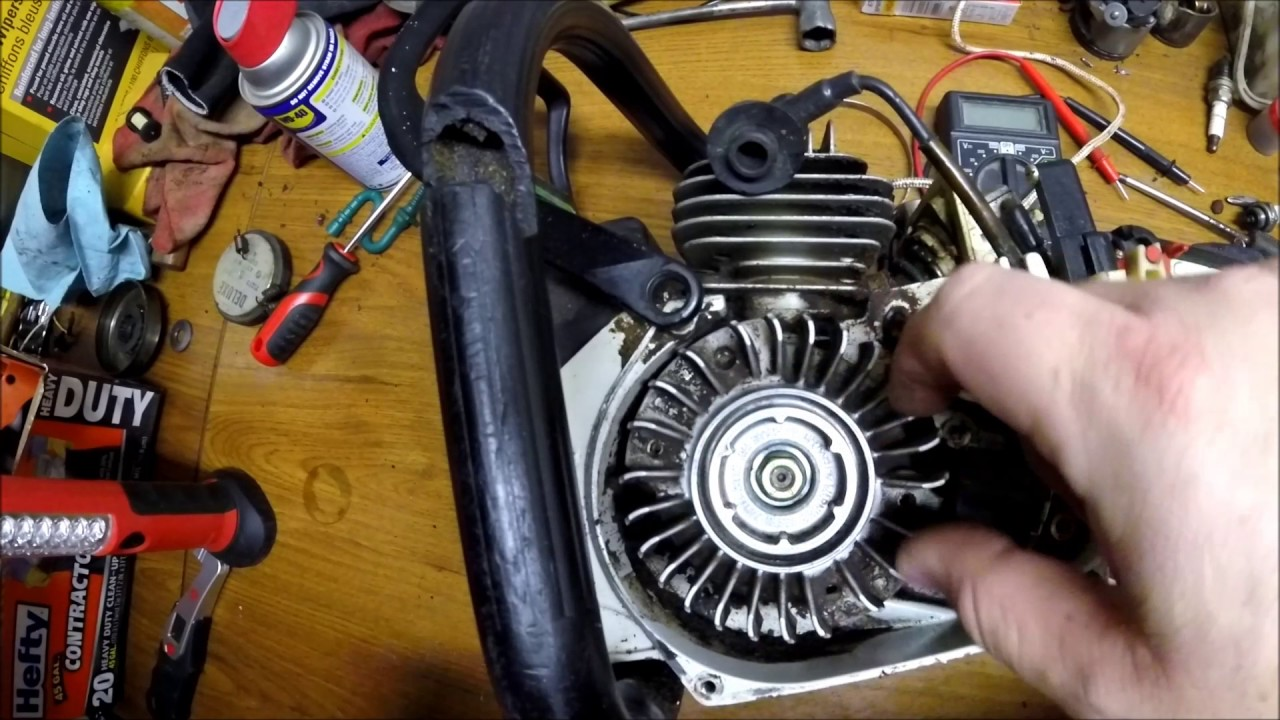 Wiring Diagram For A Golf Cart Diy How To Remove Chainsaw Flywheel Without Puller Stihl