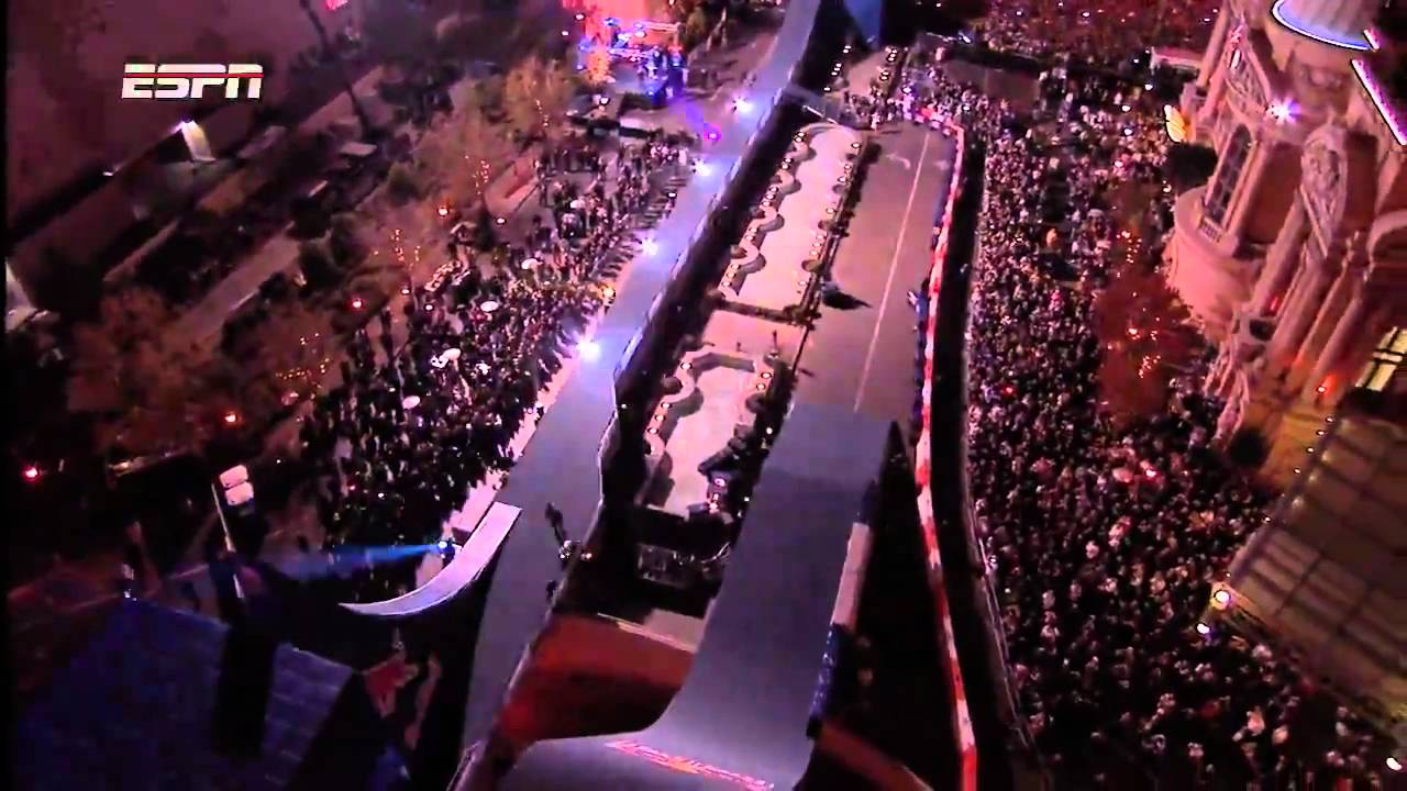 Red bull motorcycle jump new years eve