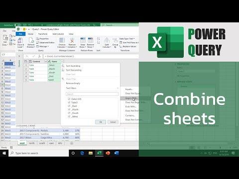 สอน Excel: การรวมข้อมูลจากหลายชีทเข้าด้วยกัน (combine sheets with Power Query)