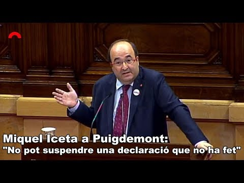 Iceta a Puigdemont: