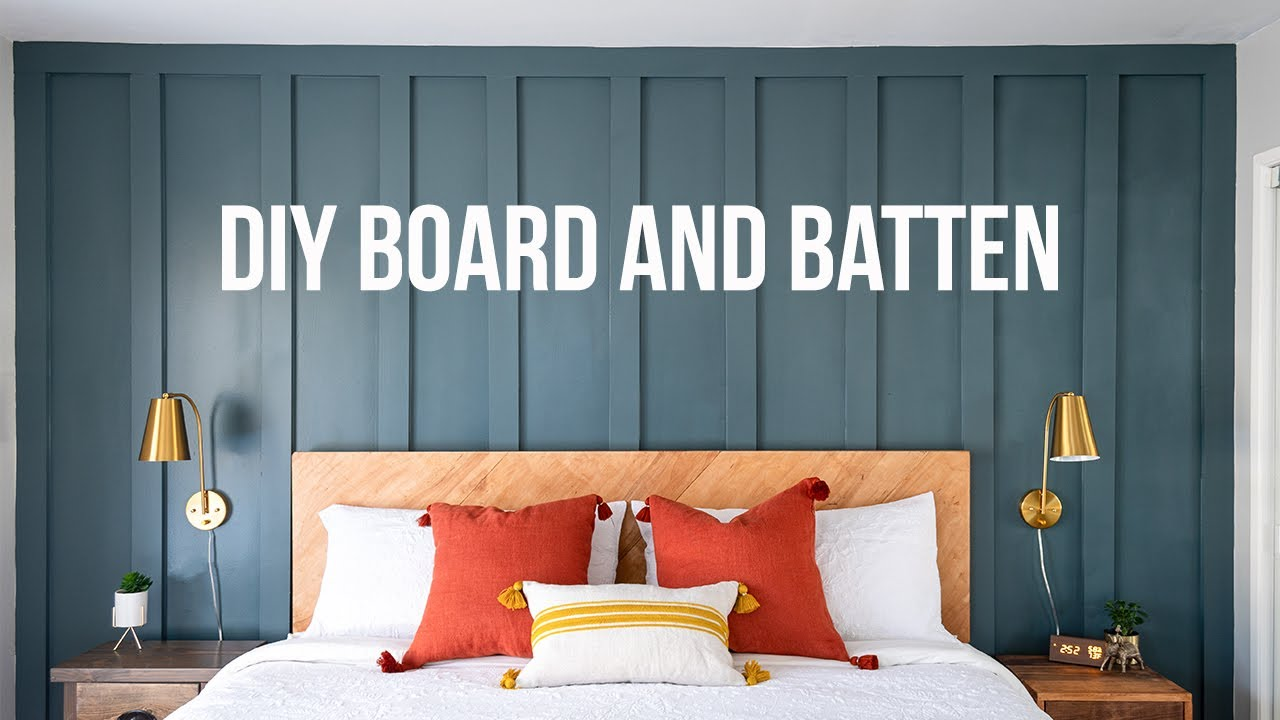 Download How to install a simple DIY board and batten wall