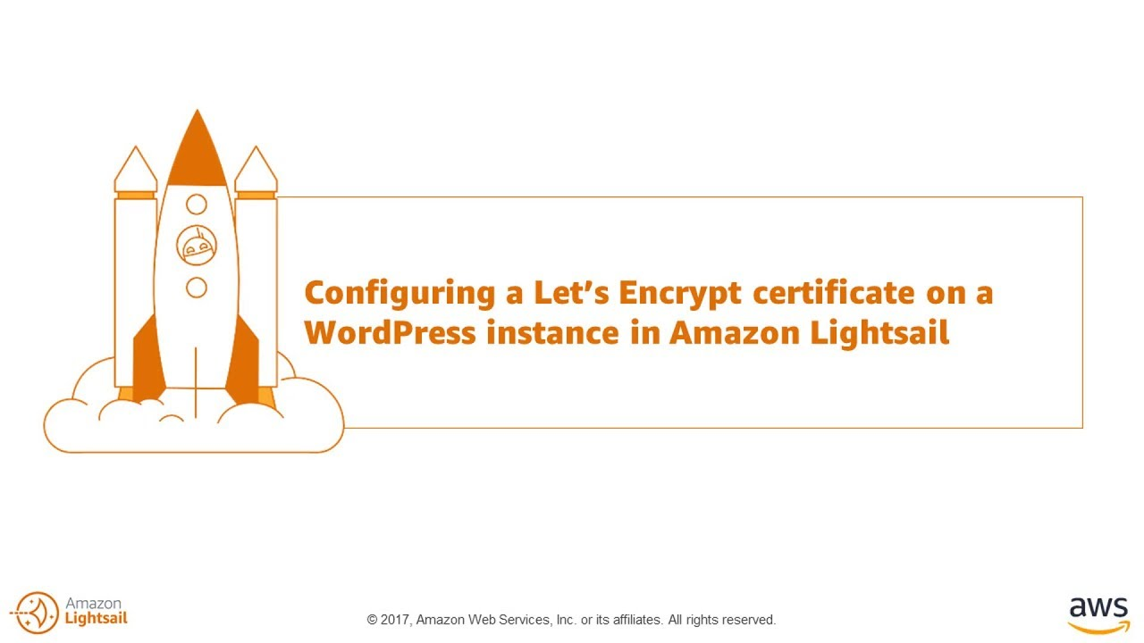 Configuring a Let's Encrypt Certificate on a WordPress Instance in Amazon  Lightsail