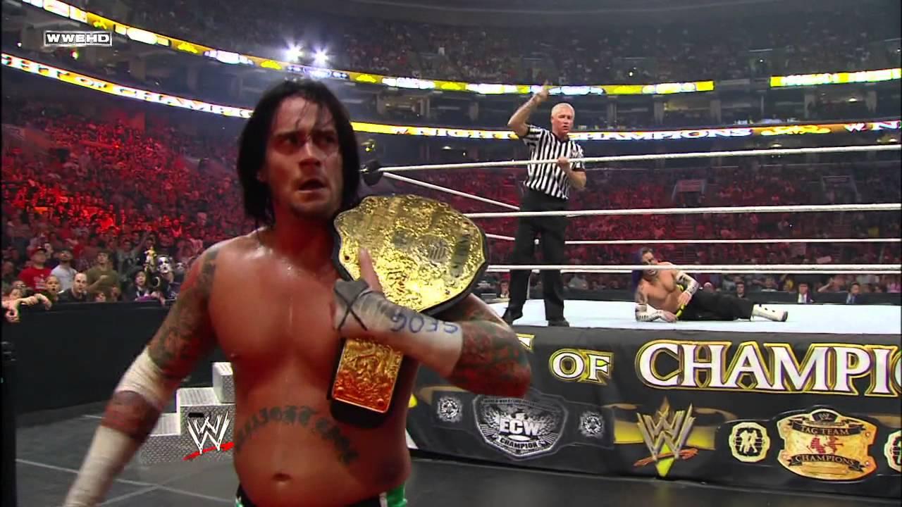 37128955 Jeff Hardy vs. CM Punk - World Heavyweight Championship Match: Night of  Champions July 26, 2009 - YouTube