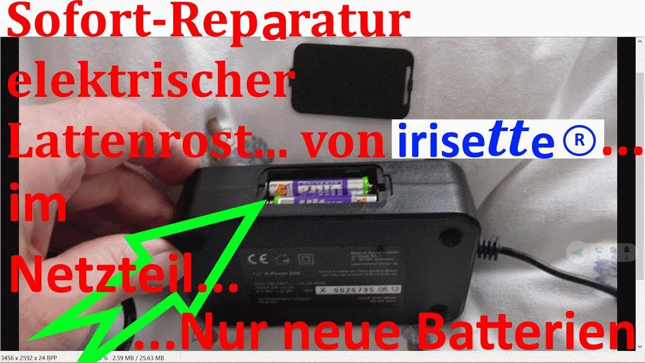 W_0375 =Sofort-Reperatur =defektes Irisette Motor Lattenrost - YouTube
